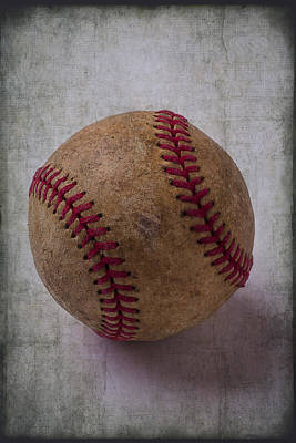 Baseball Art Photograph - Old Baseball by Garry Gay