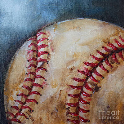 Old Baseball Original by Kristine Kainer