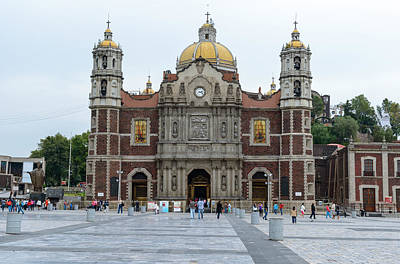 Photograph - Old Basilica In Guadalupe Mexico City by Marek Poplawski