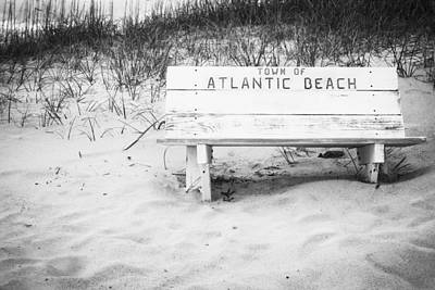 Photograph - Old Beach Bench by Bob Decker