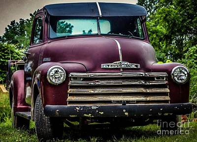 Photograph - Old Beauty Chevy Truck 1950 by Peggy Franz