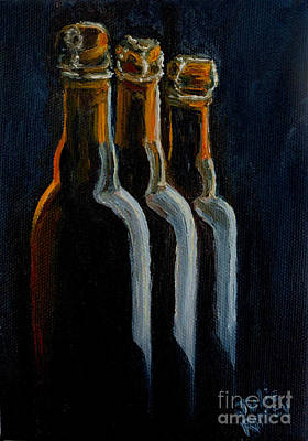 Painting - Old Beer Bottles by Julie Brugh Riffey
