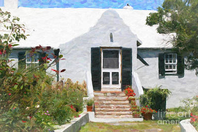 Art Print featuring the photograph Old Bermuda Home by Verena Matthew