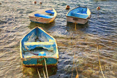 Art Print featuring the photograph Old Bermuda Rowboats by Verena Matthew