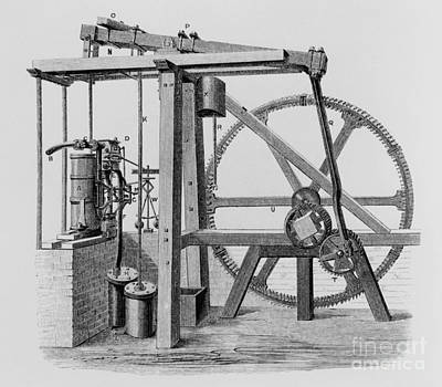 Drawing - Old Bess Steam Engine by SPL and Science Source