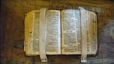 Photograph - Old Bible2 by Glenn Bautista