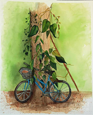 Painting - Old Bicycle by Terri Mills