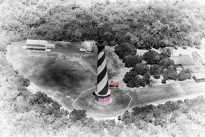 Old Black And White From The Sky Art Print