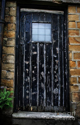 Photograph - Vintage Cottage Black Door by Doc Braham