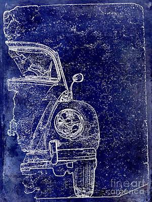 Old Blue Beetle Art Print