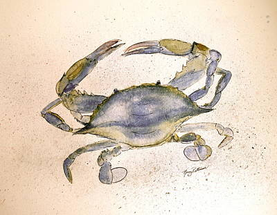 Painting - Old Blue Crab  by Nancy Patterson
