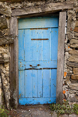 Photograph - Old Blue Door by Brian Jannsen