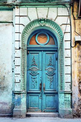 Photograph - Old Blue Door In Havana, Cuba by Nikada