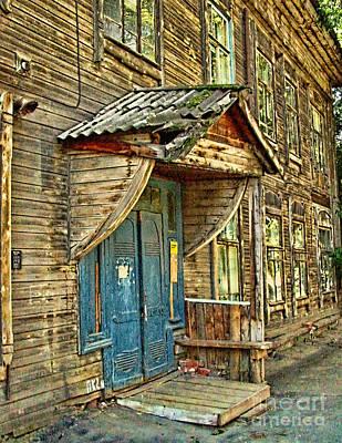 Photograph - Old Blue Door by Olga Hamilton
