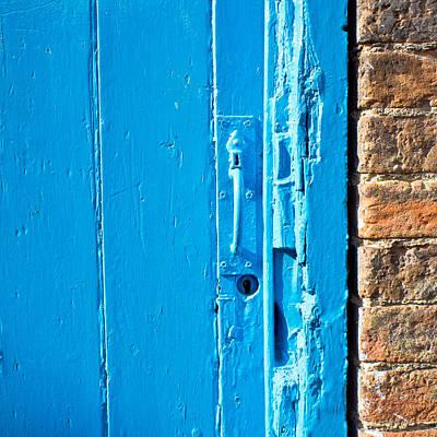 Old Blue Door Art Print by Tom Gowanlock