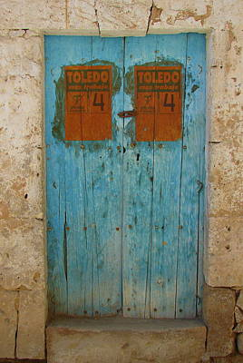 Photograph - Old Blue Doors  by Lew Davis