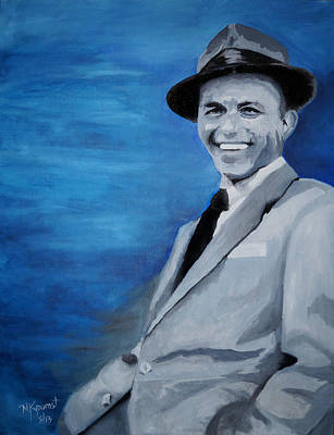 Rat Pack Painting - Old Blue Eyes - Frank Sinatra by Michael Kypuros