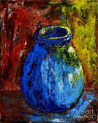 Painting - Old Blue Jar by Melvin Turner