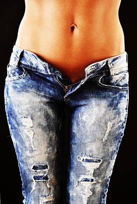 Old Blue Jeans Art Print
