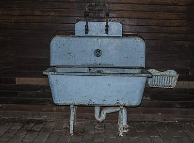 Hyde Park Digital Art - Old Blue Sink by Bill Cannon