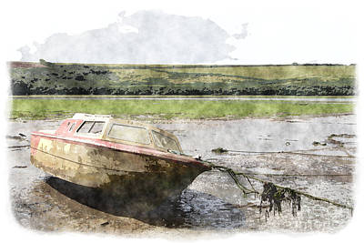 Digital Art - Old Boat by Nicholas Burningham