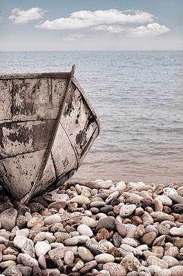 Photograph - Old Boat On A Beach by Jill Battaglia