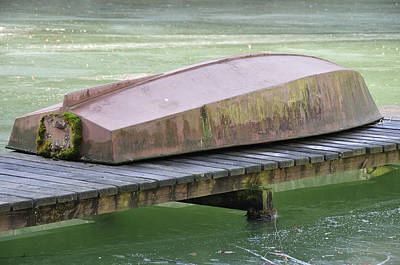Photograph - Old Boat On Pier by Matthias Hauser