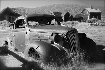Royalty-Free and Rights-Managed Images - Old Bodie Ghost Town vintage Car by Lisza Anne McKee