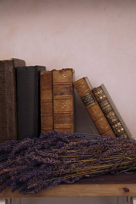 Photograph - Old Books And Lavender by Ethiriel  Photography