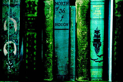 Novel Photograph - Old Books by Bonnie Bruno