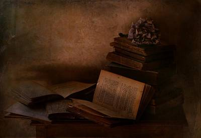 Old Age Photograph - Old Books by Delphine Devos