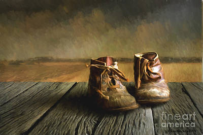 Old Wall Painting - Old Boots by Veikko Suikkanen