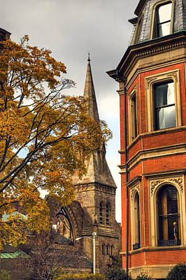Autumn Scene Photograph - Old Boston by Joann Vitali