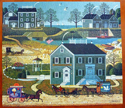 Old Boston Puzzle Art Print by Mountain Dreams