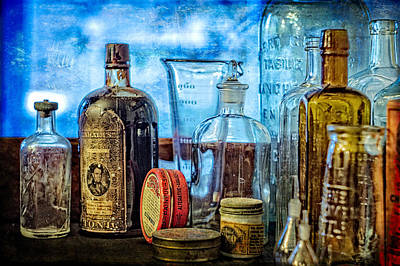 Photograph - Old Bottles    Color by Wayne Meyer