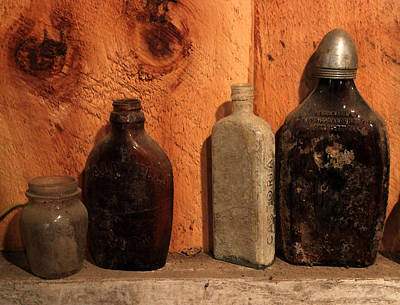 Photograph - Old Bottles 1 by Mary Bedy
