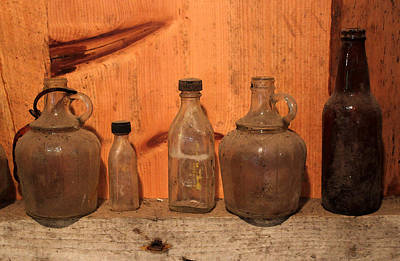 Photograph - Old Bottles 2 by Mary Bedy