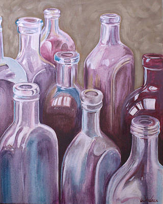 Painting - Old Bottles by Kathy Weidner