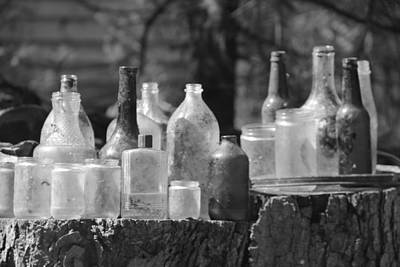 Old Bottles Art Print by Sarah Klessig