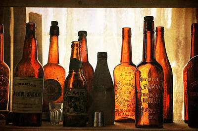 Photograph - Old Bottles by Steve McKinzie