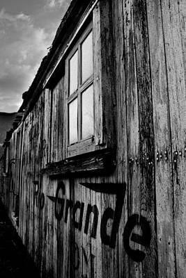Silverton Photograph - Old Box Car by Calvin Davenport