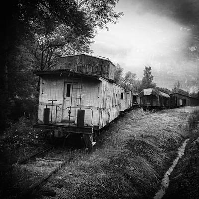 Boxcar Photograph - Old Caboose by Jeff Klingler