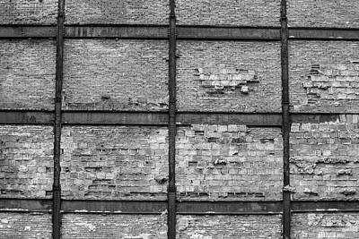 Montreals Oldest Photograph - Old Brick Wall And Rusted Metal Beams by David Chapman