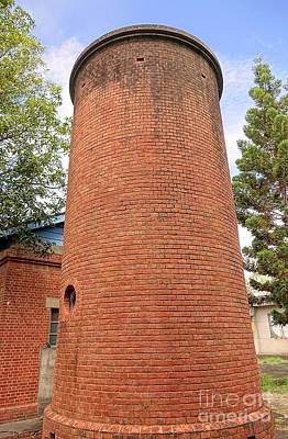 Brick Silos Photograph - Old Brick Water Tower by Yali Shi