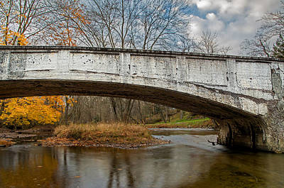 Old Bridge In Autumn Art Print