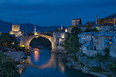 Mostar Photograph - Old Bridge In Mostar by Ayhan Altun