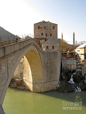 Mostar Photograph - Old Bridge In Mostar by Ladi Kirn