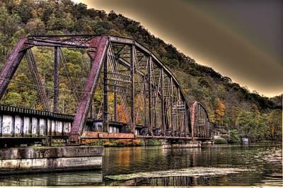 Old Bridge Over Lake Art Print by Jonny D