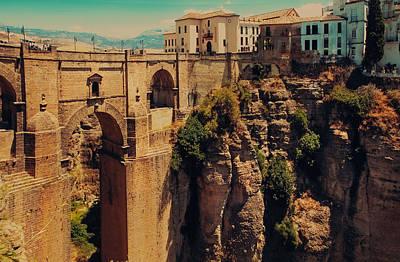 Fleetwood Mac - Old Bridge over Tajo Canyon in Ronda. Spain by Jenny Rainbow