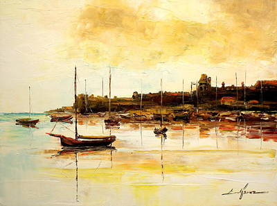 Painting - Old British Harbour by Luke Karcz